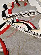 Женское нижнее белье Calvin Klein 3в1 ( стринги шортики топ) копия, фото 2