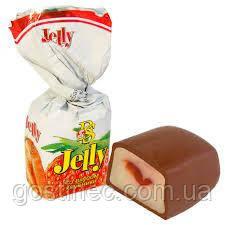 Шоколадные конфеты BS Jelly со вкусом клубники фабрика Баян Сулу республика Казахстан