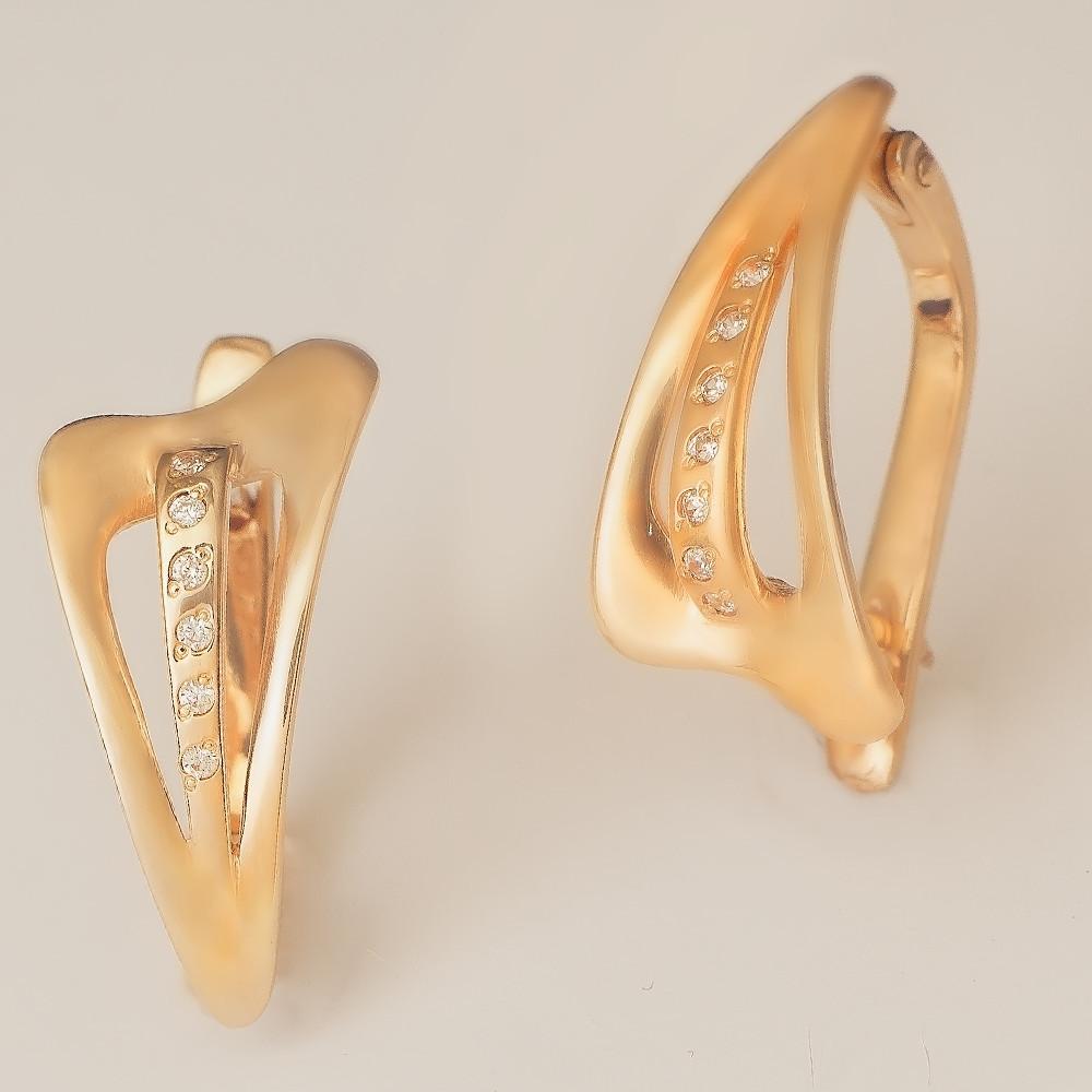 Золотые серьги с фианитами. ГП20021