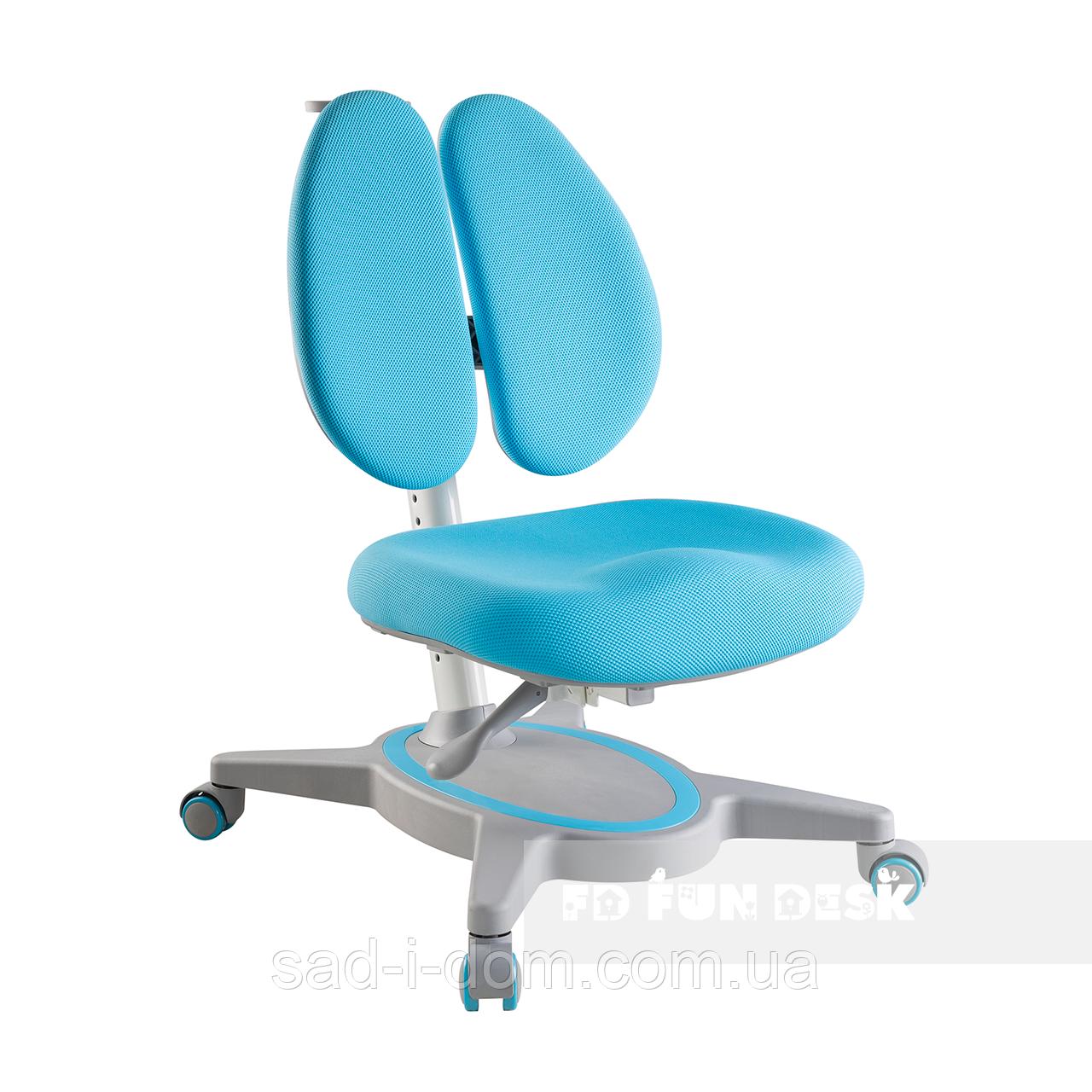 Детское ортопедическое компьютерное кресло FunDesk Primavera II голубой