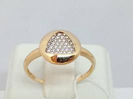 Золотое кольцо с фианитами. Артикул 111493 18,5