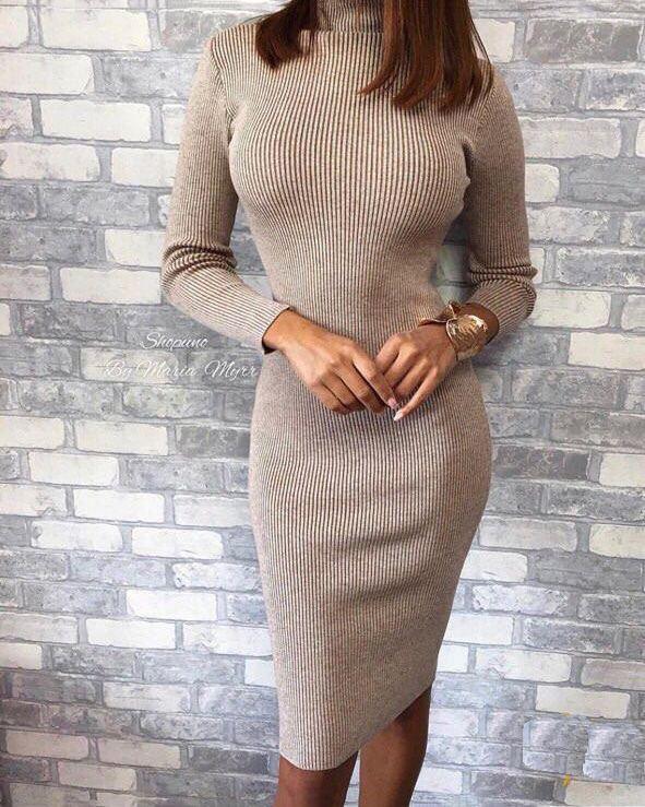 Платье-лапша до колен