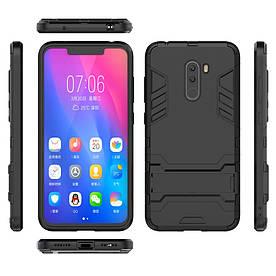 Чехол накладка для Xiaomi Pocophone F1 противоударный силиконовый с пластиком, Alien, черный