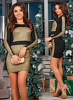 Платье комбинированное женское 25951