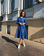 Платье-рубашка индиго, арт.1017, фото 1