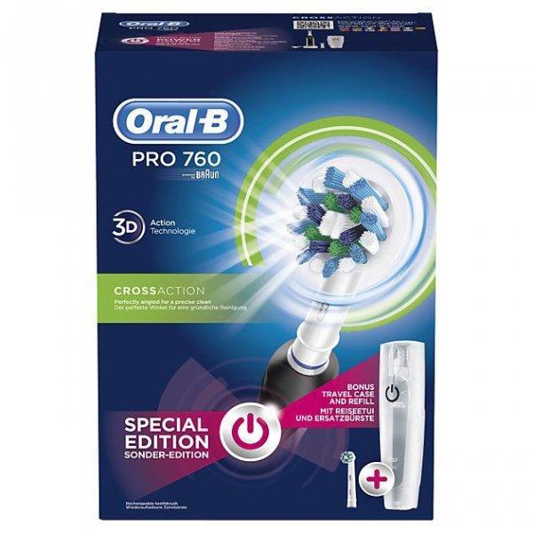 Електрична зубна щітка BRAUN Oral-B Pro 760 Black з двома насадками