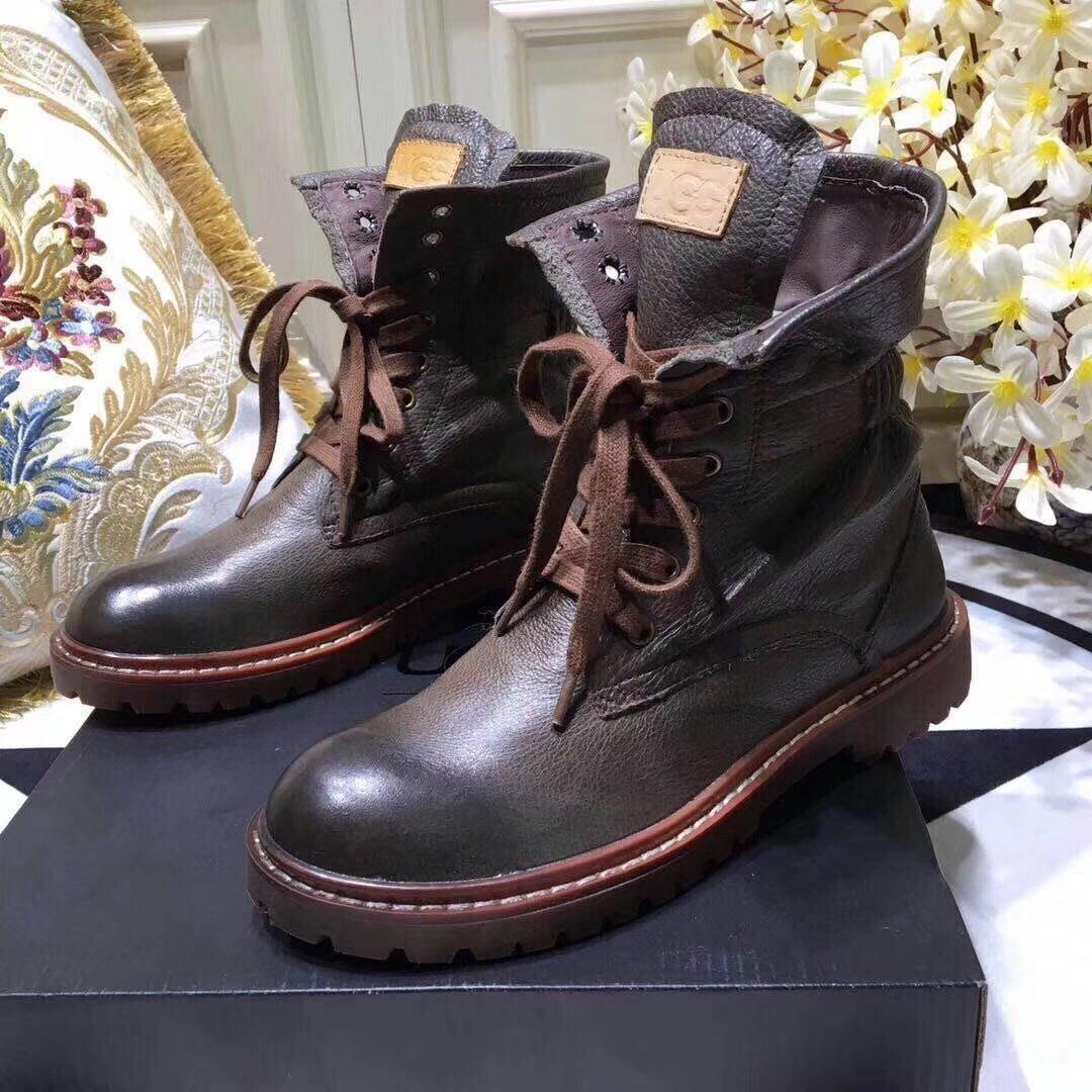 Мужские кожаные  ботинки UGG.Купить в Украине!
