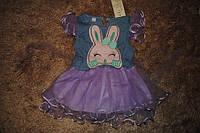 Платье детское летняя фиолетовая с кроликом 6322