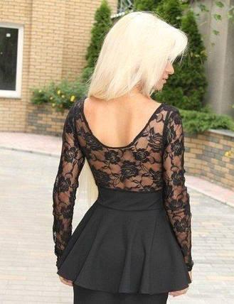 Платье баска верх гипюр, фото 2