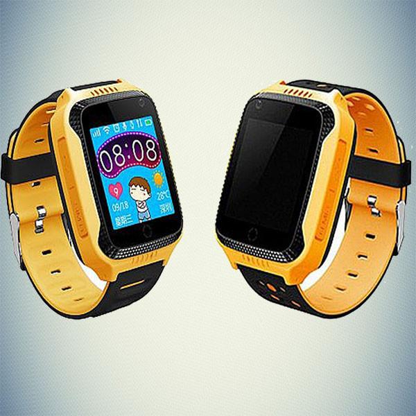 Детские Смарт часы GPS- (Q65/T7) с фонариком желтый