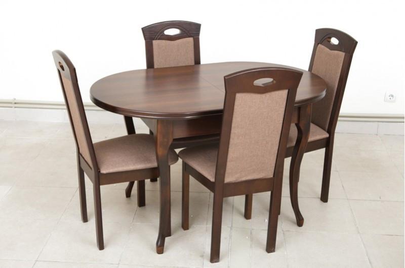 Стол обеденный раздвижной, овальный - Твист (орех)