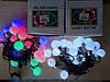 Новорічна світлодіодна гірлянда ЛАМПОЧКИ 20LED 7м мультиколор RB/RG, фото 2