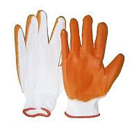 Перчатки оранжевые синтетические (12пар)