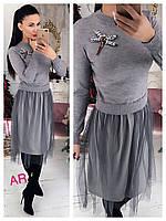 47eae64f Стрекоза интернет магазин одежды в России. По рейтингу; Дешевые · Дорогие ·  Оригинально серое платье с пышной юбкой AR