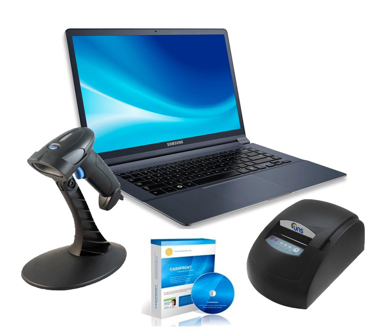 Набір обладнання і програма обліку для магазина з одною касой