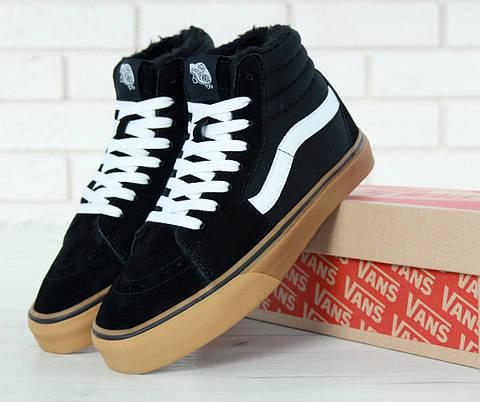 Мужские зимние кеды Vans Old Skool SK8 Hi x Winter x Black Gum ... eff87350443