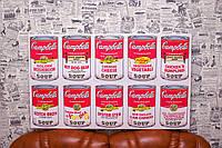 Банки с супом Кэмпбелл. Campbell's Soup Cans. Энди Уорхол. Andy Warhol. 93х55 см. Картина на холсте.