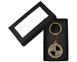 Брелок для ключей 22 в подарочной упаковке со стразами