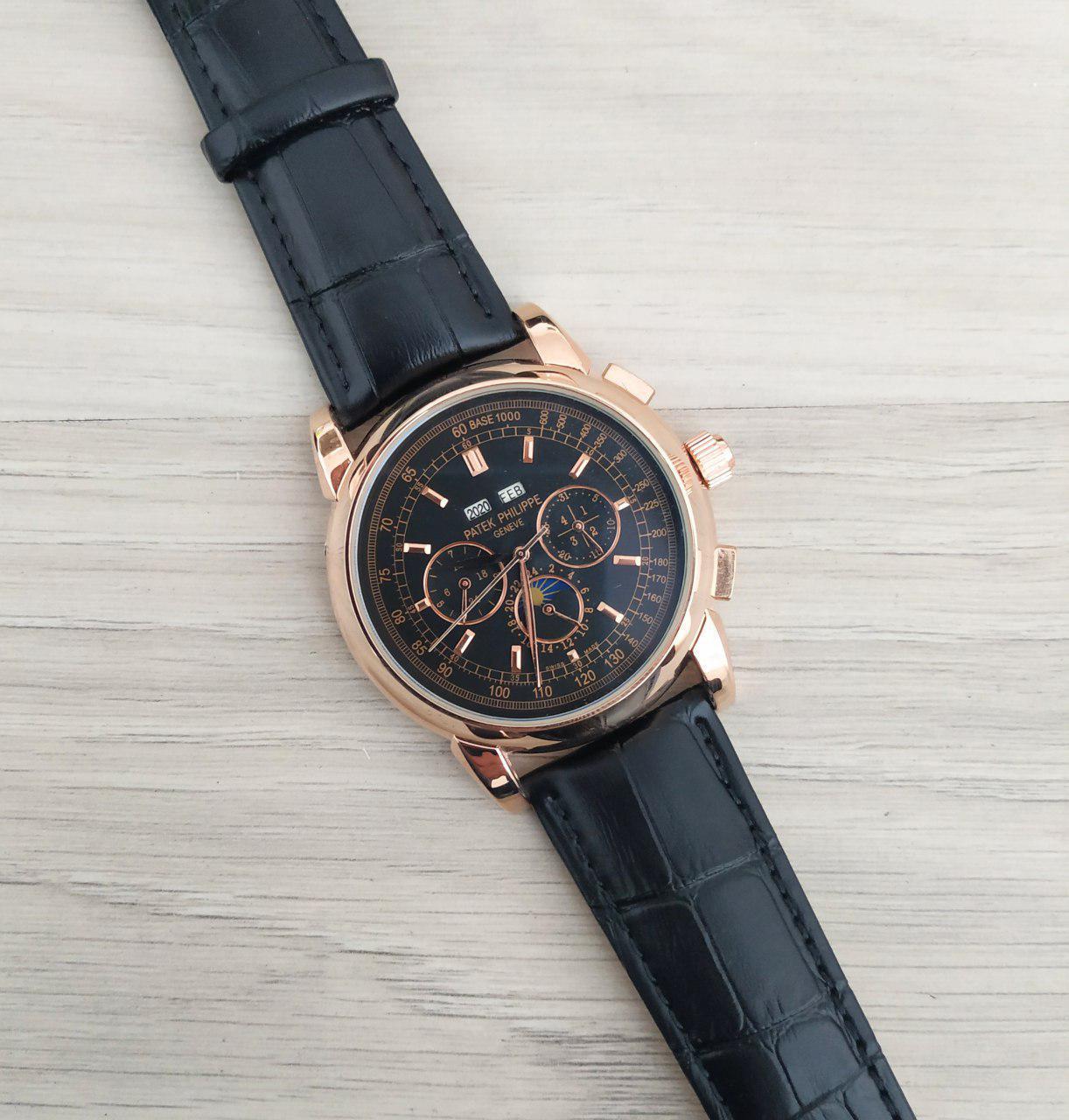 c664e7af Patek Philippe Grand Complications AA Alternative Black-Gold-Black мужские механические  часы - Choice