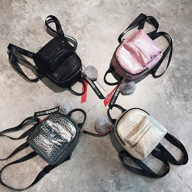Блестящий женский мини рюкзак