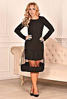 Коктейльное платье чёрного цвета, фото 1