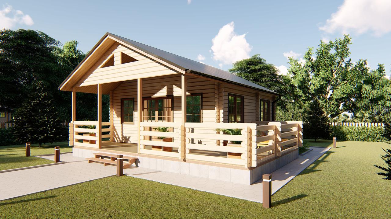 Дом двухуровневый с мансардой из профилированного бруса 8,0х8,0 м. Скидка на домокомплекты на 2020 год