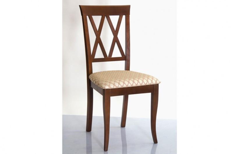 Кухонный стул из массива дерева с мягкой сидушкой - Венеция -Н (цвет орех)