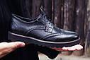 Туфли броги мужские черные кожаные Оникс (Onyx) от бренда Legessy размер 40, 41, 42, 43, 44, 45, фото 4