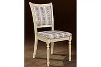 Классический обеденный стул из массива дерева -Сицилия (слоновая кость)