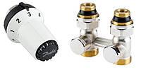 Комплект с термоголовкой для нижнего подключения радиатора М30х1,5 прямой 013G5275 Danfoss