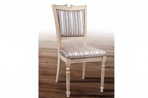 Обеденный классический стул из массива ясеня -Сицилия Люкс. (слоновая кость,орех)