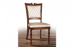 Обідній класичний стілець з масиву ясеня-Сицилія Люкс. (слонова кістка,горіх)