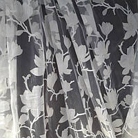 Тюль с цветочным принтом