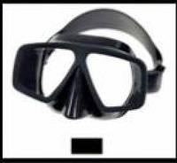 Маска для подводной охоты  и плавания Black, дайвинга из черного силикона
