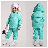 Детский тёплый зимний комбинезон + курточка (стеганная плащевка, синтепон) , фото 3