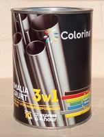 Эмаль-грунт по ржавчине 3 в 1 ТМ Colorina чёрная 2.5 кг