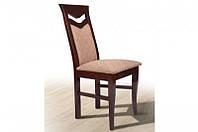 Кухонный стул из массива дерева с мягкой сидушкой,спинкой -Ситроен (орех темный)