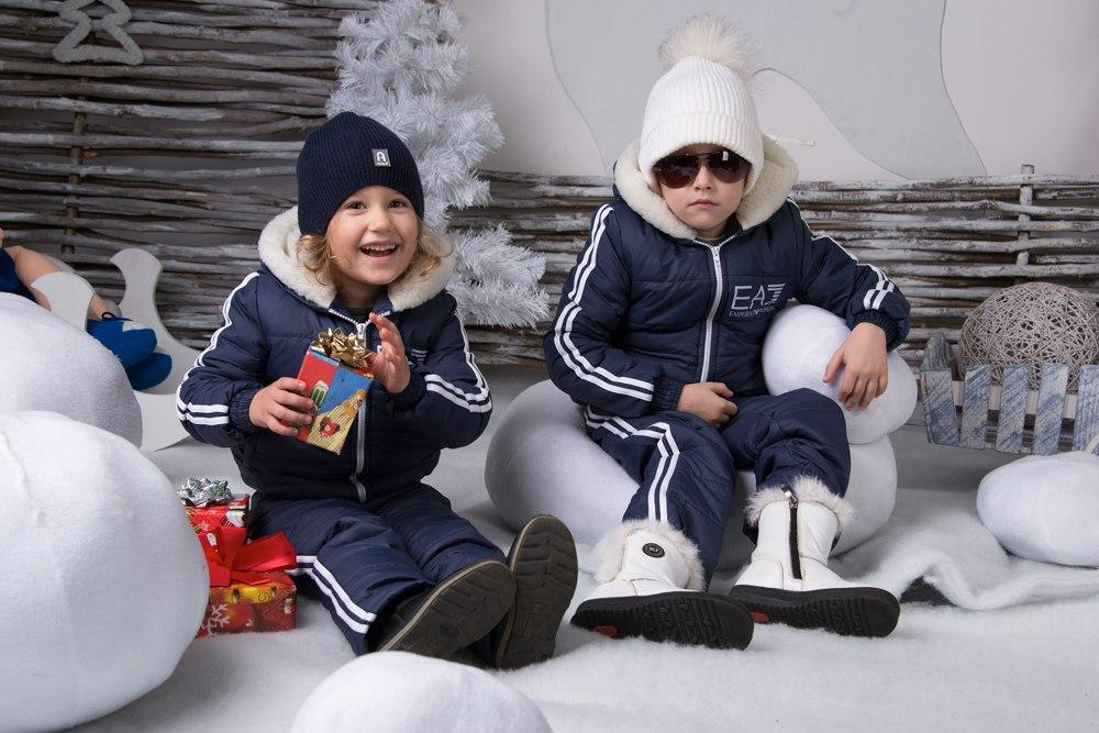 Детский очень тёплый стильный зимний костюм ( плотная стеганная плащевка на синтепоне)