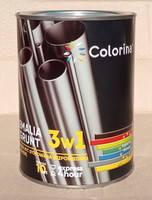 Эмаль-грунт по ржавчине 3 в 1 ТМ Colorina чёрная 0.75 кг