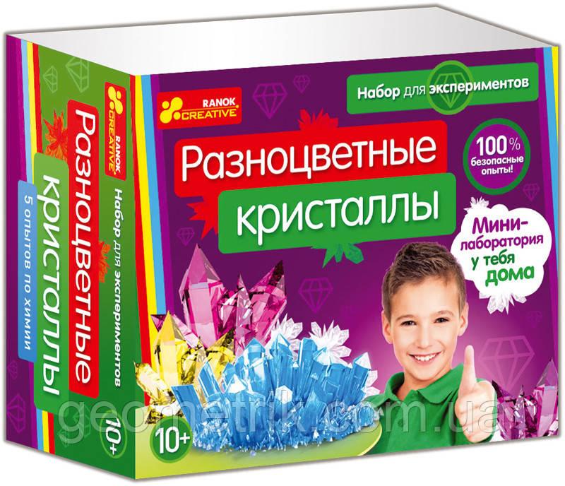 """Набор для экспериментов """"Разноцветные кристаллы"""" 0308-1 арт. 12115010Р ISBN 4823076100964"""