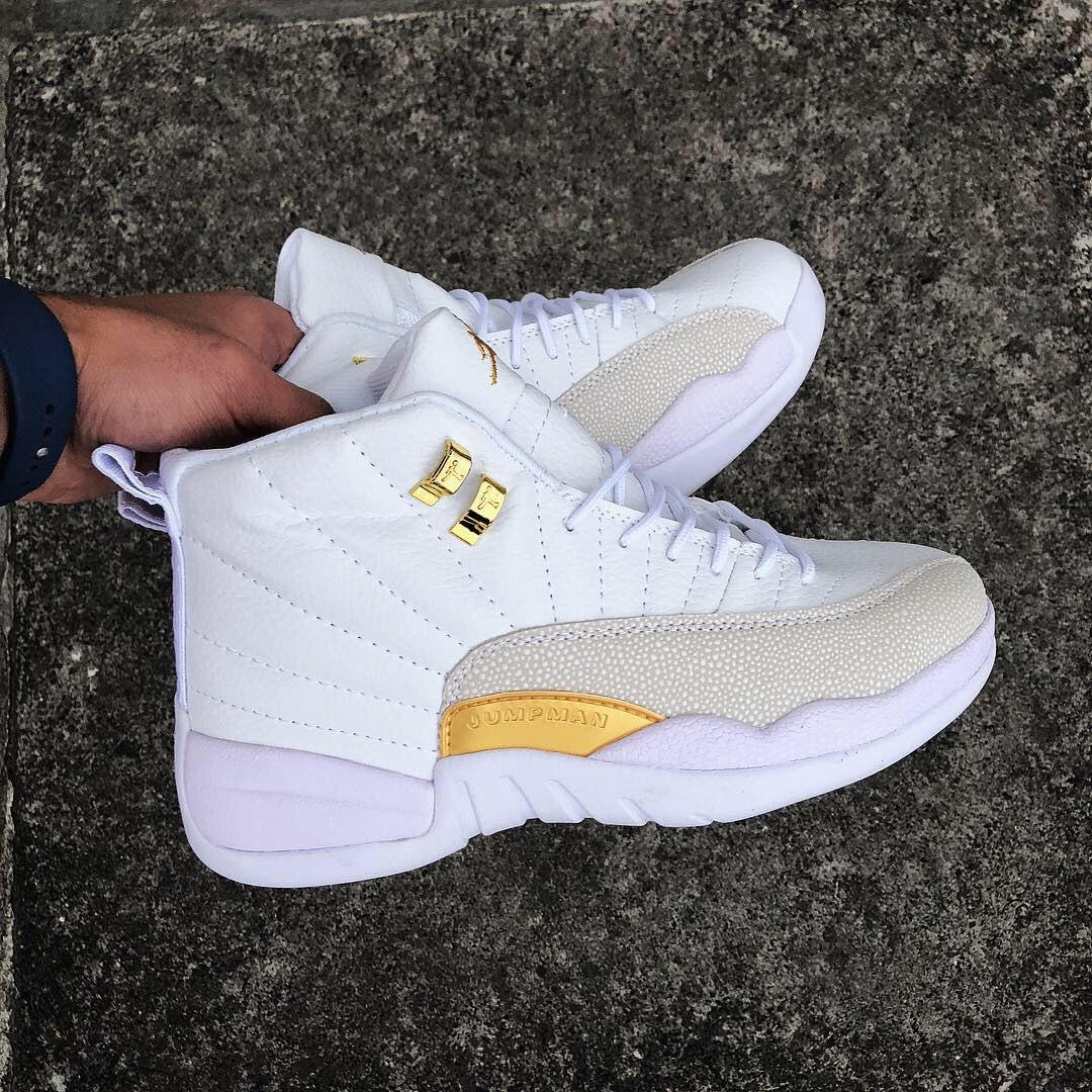 4d06f135b Air Jordan XII Ovo | женские кроссовки; белые; кожаные; осенние/весенние,  ...
