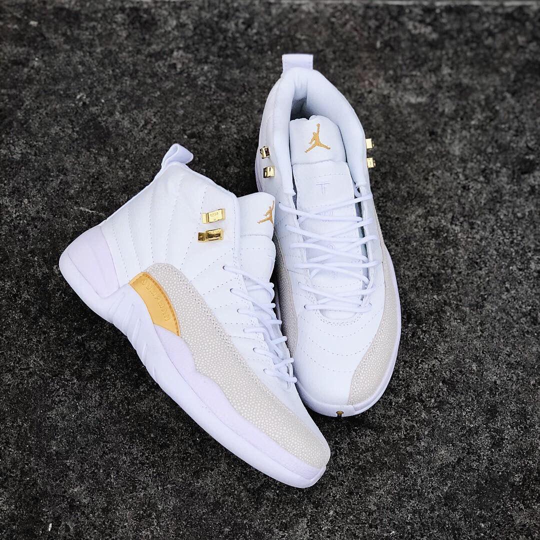 5c77b3557 Air Jordan XII Ovo | женские кроссовки; белые; кожаные; осенние/весенние