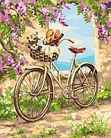 Картины по номерам / коробка. Прогулка по селу (велосипед на тропинке) 40х50см арт. КН2207