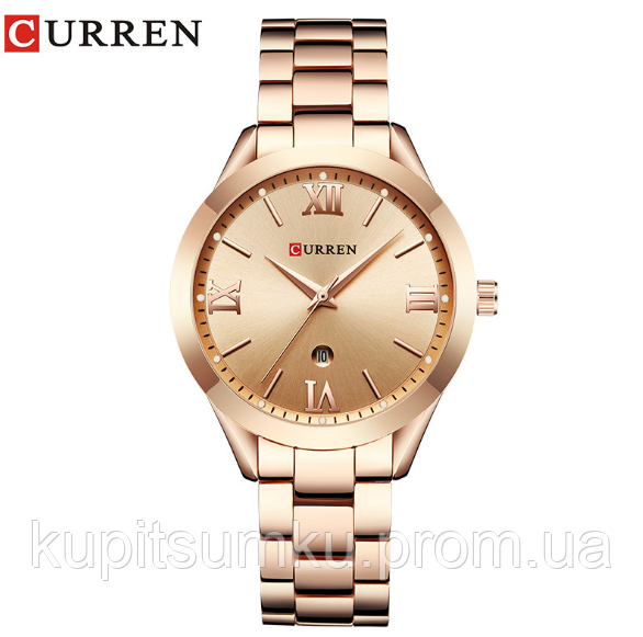 Брендовые женские часы CURREN. Красивые женские часы. Стильный дизайн