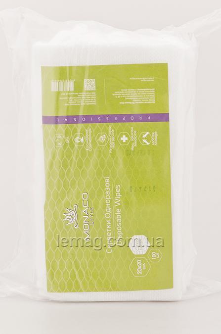 Monaco Style Салфетки косметологические 20х20 см спанлейс, СЕТКА, 100 шт.