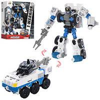 Трансформер J8031A  мет., робот-машина (поліція), зброя, кор., 24-29-10 см.