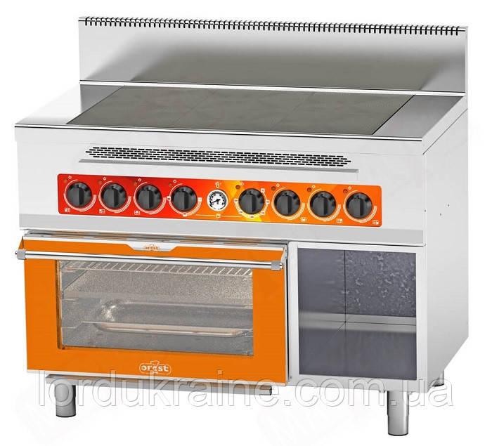 Плита электрическая промышленная с духовкой CES(с)-6-O(G) ТМ OREST