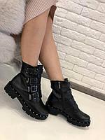 """Ботинки  """"4 пряжки""""  натуральная кожа  и мех код  2494, фото 1"""