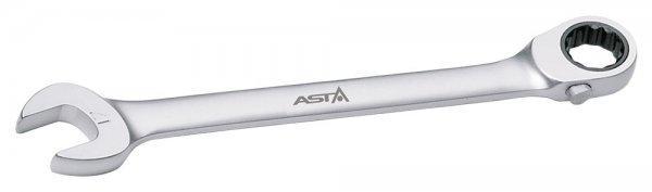 Ключ комбиниров. с трещотк. изогнутый (реверс) 17мм ASTA PFG171