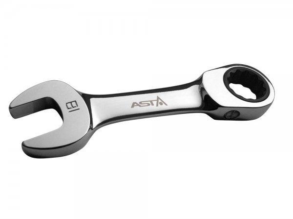 Ключ комбинированный трещеточный короткий 10мм ASTA PFS101